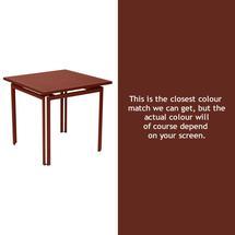 Costa Square Table - Red Ochre