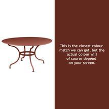 Romane Round 137cm Table - Red Ochre