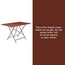 Bistro 117x77 Table - Red Ochre