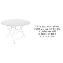 Bistro 117cm Round Table - Cotton White