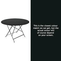 Bistro 117cm Round Table - Liquorice
