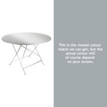 Bistro 117cm Round Table - Steel Grey