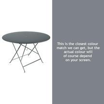 Bistro 117cm Round Table - Storm Grey