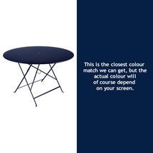 Bistro 117cm Round Table - Deep Blue