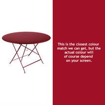 Bistro 117cm Round Table - Chilli