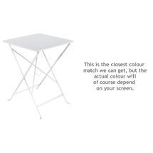 Bistro 57cm Square Table - Cotton White