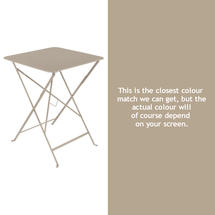 Bistro 57cm Square Table - Nutmeg