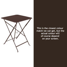 Bistro 57cm Square Table - Russet
