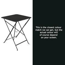 Bistro 57cm Square Table - Liquorice