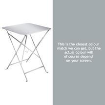 Bistro 57cm Square Table - Steel Grey