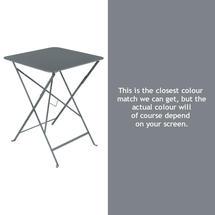 Bistro 57cm Square Table - Storm Grey