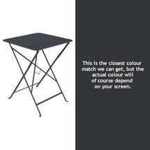 Bistro 57cm Square Table - Anthracite