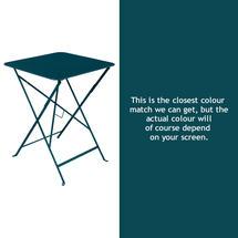 Bistro 57cm Square Table - Acapulco Blue
