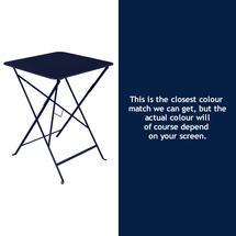 Bistro 57cm Square Table - Deep Blue