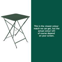 Bistro 57cm Square Table - Cedar Green