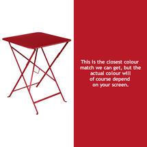 Bistro 57cm Square Table - Poppy