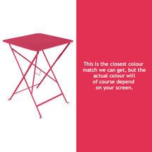 Bistro 57cm Square Table - Pink Praline