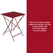 Bistro 57cm Square Table - Chilli