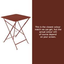 Bistro 57cm Square Table - Red Ochre