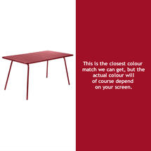 Luxembourg 143 x 80 Table - Chilli