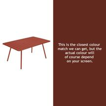 Luxembourg 165 x 100 Table - Red Ochre
