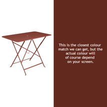 Bistro 97x57 Table - Red Ochre