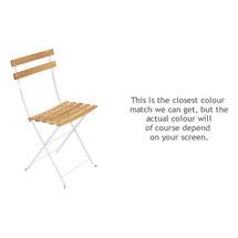 Bistro Natural Chair - Cotton White