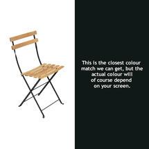 Bistro Natural Chair - Liquorice
