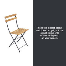 Bistro Natural Chair - Anthracite