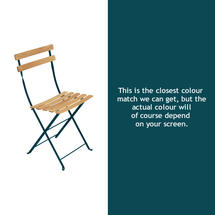 Bistro Natural Chair - Acapulco Blue