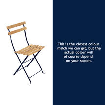 Bistro Natural Chair - Deep Blue