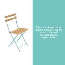 Bistro Natural Chair - Lagoon Blue