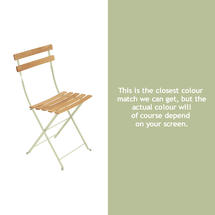 Bistro Natural Chair - Willow Green