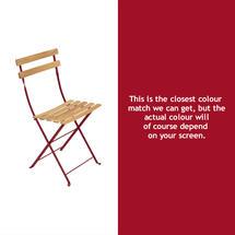 Bistro Natural Chair - Chilli
