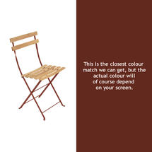Bistro Natural Chair - Red Ochre