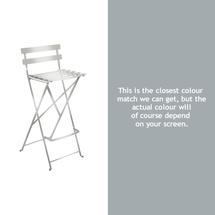 Bistro Tall Chair - Steel Grey