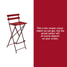 Bistro Tall Chair - Chilli