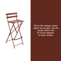 Bistro Tall Chair - Red Ochre