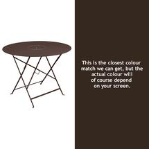 Floreal 96cm Round Table - Russet
