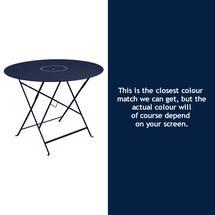 Floreal 96cm Round Table - Deep Blue