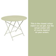 Floreal 96cm Round Table - Willow Green