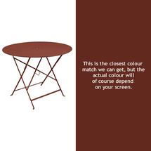 Floreal 96cm Round Table - Red Ochre