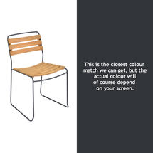 Surprising Teak Chair - Anthracite