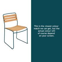 Surprising Teak Chair - Acapulco Blue