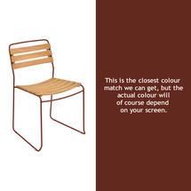 Surprising Teak Chair - Red Ochre