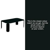 Bebop Rectangular Table - 42cm high - Liquorice
