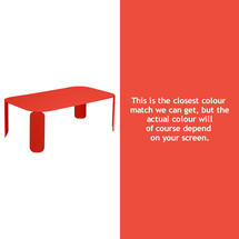 Bebop Rectangular Table - 42cm high - Capucine