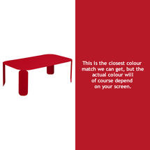 Bebop Rectangular Table - 42cm high - Poppy