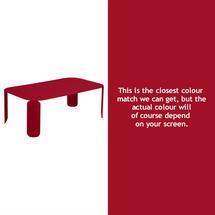 Bebop Rectangular Table - 42cm high - Chilli