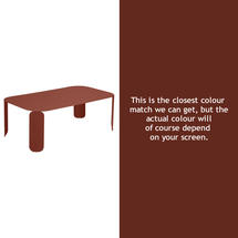 Bebop Rectangular Table - 42cm high - Red Ochre